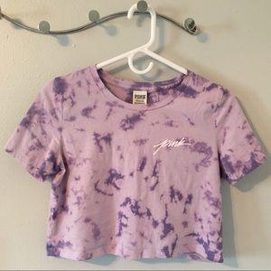 PINK VS Purple Tie-Dye Crop Top